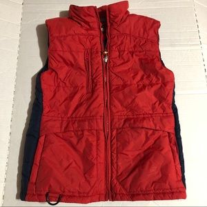 Tommy Hilfiger Girls Large Red Puffer Vest